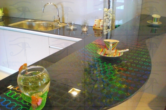 Holographic glass