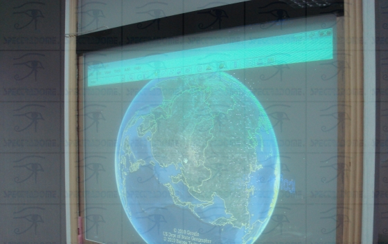 Interactive LCD projection