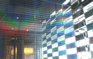 Holographic glass panes